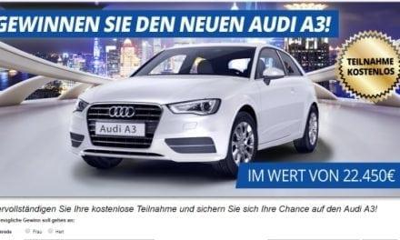 Audi A3 Gewinnspiel