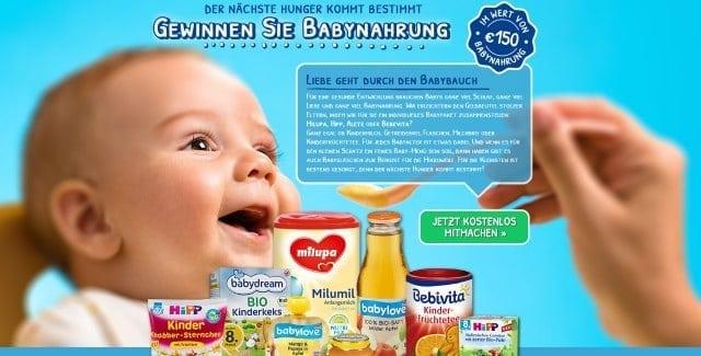 baby essen gewinnen