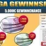 Mega Bargeld Gewinnspiel