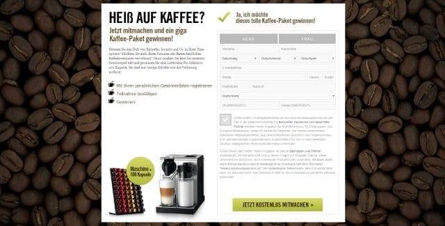 lattissima kaffeemaschine gewinnen