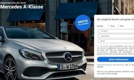Mercedes-Benz A-Klasse Gewinnspiel