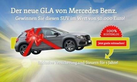 Mercedes-Benz GLA Gewinnspiel