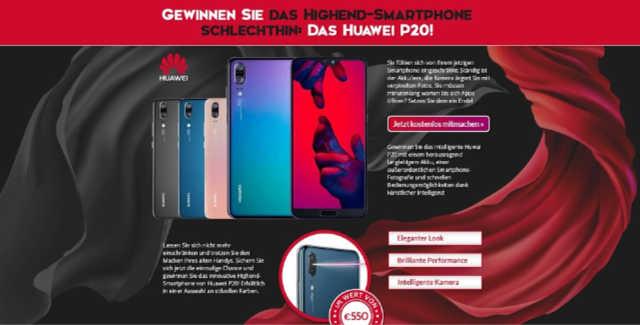 Huawei P20 Gewinnspiel